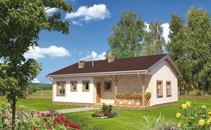 Proiect casa de lemn model pcl 02 barat system for Case in legno dalla romania