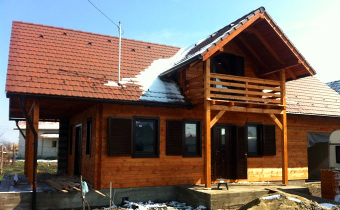 Casa din grinzi chertate Timisoara