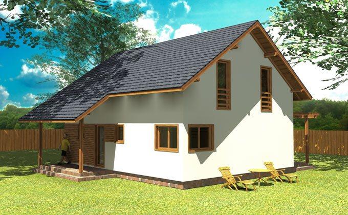Casa economica din lemn
