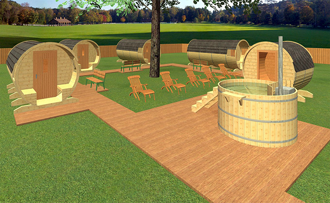 camping ecologic din lemn