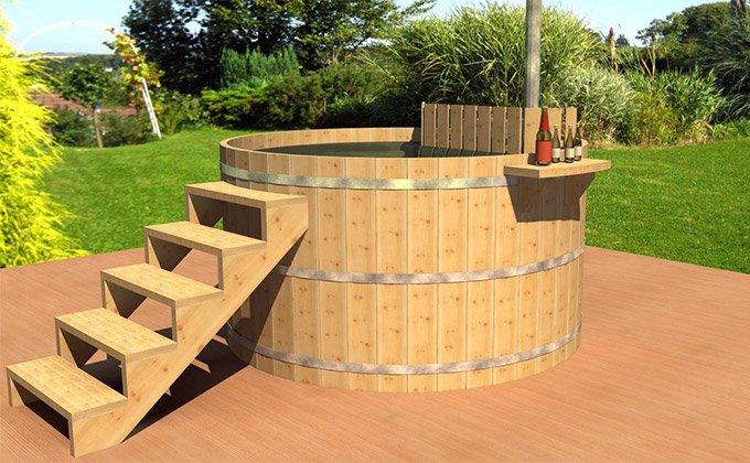 Ciubar (Hot Tub) din lemn pentru baie