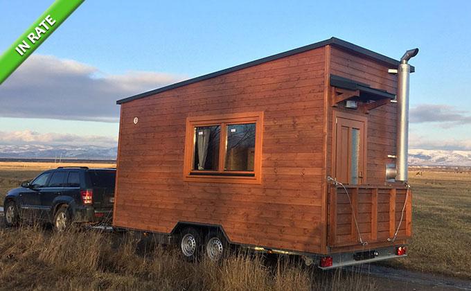 Casa pe roti Tiny Picasso - Rulota de lemn CLB-35