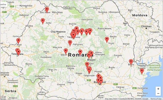Lucrari de constructii executate, amplasate pe harta Google