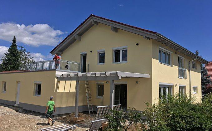 Constructie casa din lemn in Tannheim, Germania