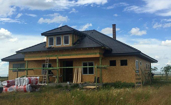 Casa de locuit din lemn pe un nivel in stil american