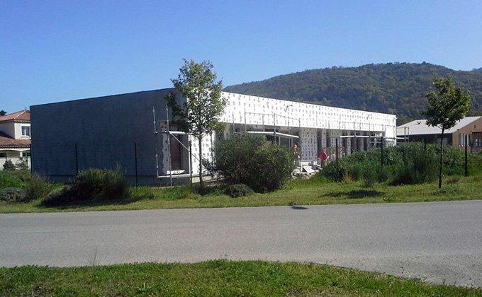 Constructie pe structura din lemn in Sarras, Franta