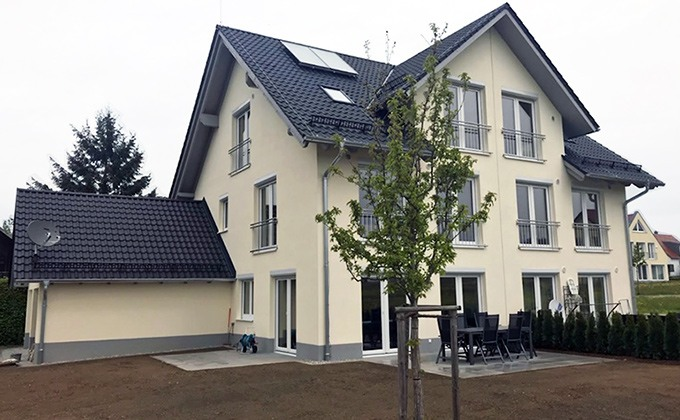 Casa duplex din lemn CLB-45