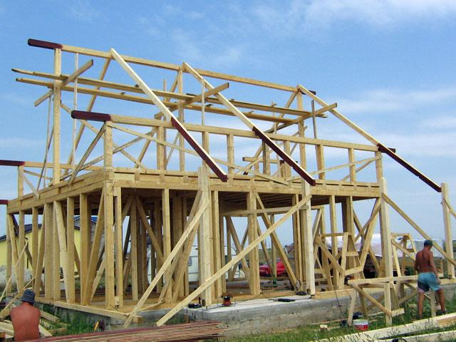 Casa de locuit din lemn si placi OSB construita in Bucuresti - Poza 1