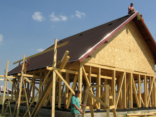 Casa de locuit din lemn si placi OSB construita in Bucuresti - Poza 3