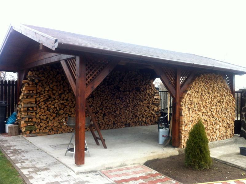 Garaj deschis din lemn - Poza 1