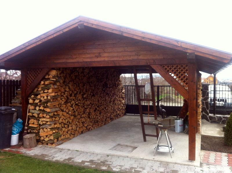 Garaj deschis din lemn - Poza 2